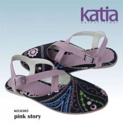 Flat slingback sandal