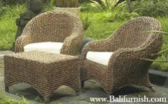 Water hyacinth Arm Chairs Furniture from Indonesia