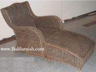 Arms Chair with Stool Sea Grass Furniture