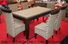 Woven Water Hyacinth Dining Room Furniture