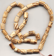 Natural bamboo beads