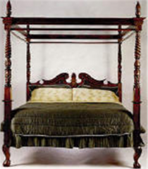 Bed - Queen Four Poster Canopy