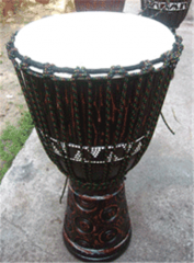 Djembe Carved