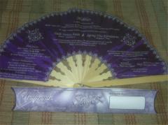 Fan Invitation Bamboo