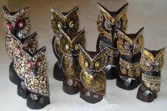 Wooden Owel Set