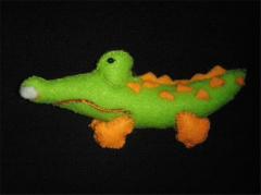Doll Flannel Crocodile