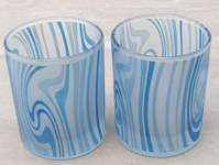 Votive Glass mug with Ocean Motive