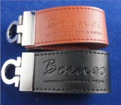 USB Leather Logo Borneo