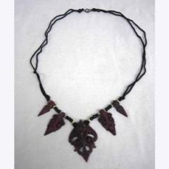Wood Art Necklace