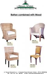 Rattan Chair with Wood Frame