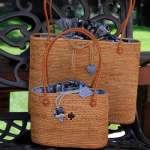 Woven bags skinfold Lombok