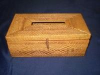 Full wicker tissue box