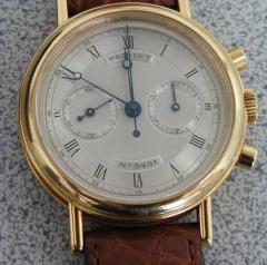Men's 18k Gold Breguet Chronograph Watch NR