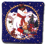 Snowman Cushion Cover