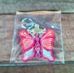 Leather butterfly keychain