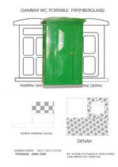 Portable toilet tanpa tangki air