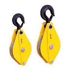 Pulley block with hook
