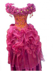 Wedding Dress Maroon