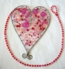 Heart Beaded Mobile Decoration