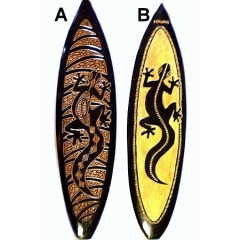 Wooden Carved Surf Board Wall Hanging SRF-001