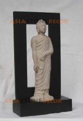 Standing Buddha Statue with Shadow Frame