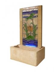 Stone Fountain with Casting Glass