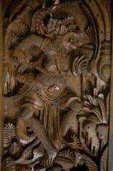 Balinese God Meditated Wood Carving