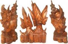 Bali wood carving of Goddess Saraswati