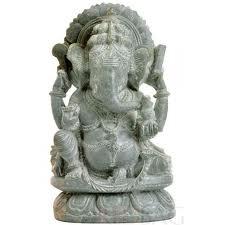 Ganesh Miniature Bali Stone Carving