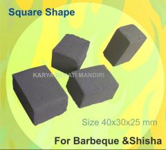 Coco briquete, square 40x30x25 mm for barbeque