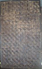 Woven black bamboo