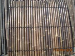 Black bamboo pole fences