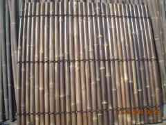 Black bamboo pole fences