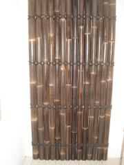Split black bamboo fence 210x90cm