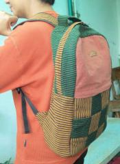 Woven backpack bag