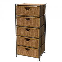 Rattan drawers