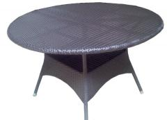 Synthetic rattan tables