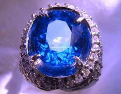 Ring with topaz