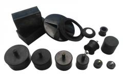 Rubber mounting for engines