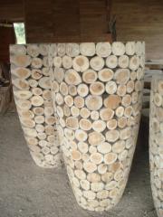 Teak Root Vase