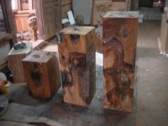 Teak Root Pedestal Set of 3