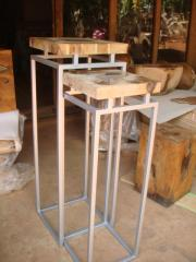 Teak Root Nastling Table & Resin
