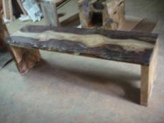 Teak Root Bench & Resin