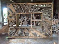 Teak Root Display Cabinet