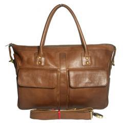 Jollie Handbag with 2 Pocket on Brown
