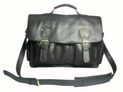 Dellano Briefcase on Black