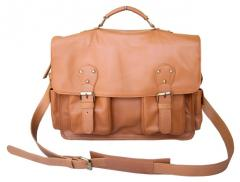Dellano Briefcase on Camel
