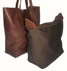 Bonnie Shopping Bag Large on Brown