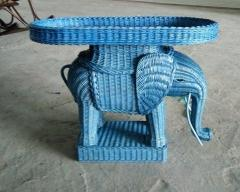 Wicker Rattan Elephant