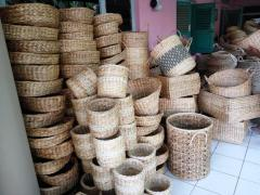 Natural basket and accessories